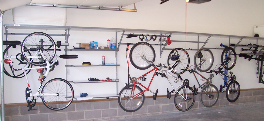 Efficient Bike Storage The Garage Organizer